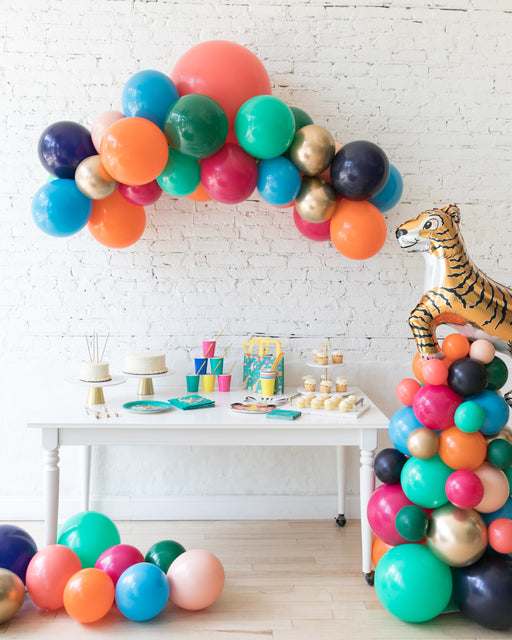 Party Animal Theme - Floating Arch & Tiger Column Set