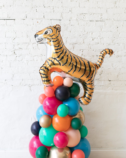 Party Animal Theme - Tiger Balloon Column - 4FT