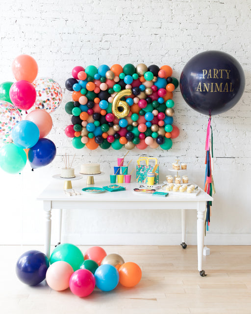 Party Animal Theme - Balloon Board, Confetti Bouquet & Party Animal Giant Balloon Set