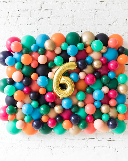 Party Animal Theme - Customizable Number Balloon Backdrop Board - 30inx40in