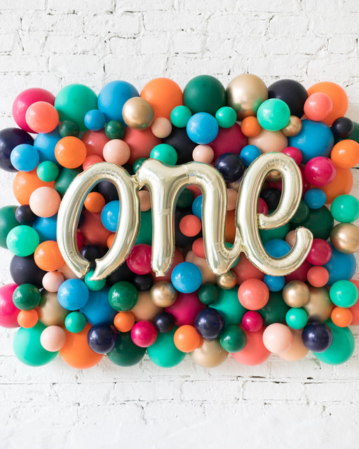 Party Animal Theme - ONE Script Balloon Backdrop Board - 30inx40in