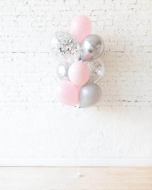 Pink Chic - Confetti and 11in Balloons - bouquet of 10
