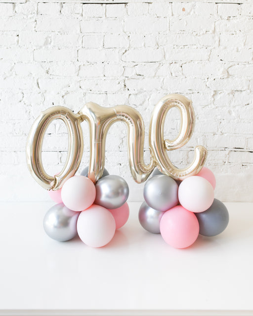 Pink Chic - Tabletop ONE script on Balloon Base - 1.5FT
