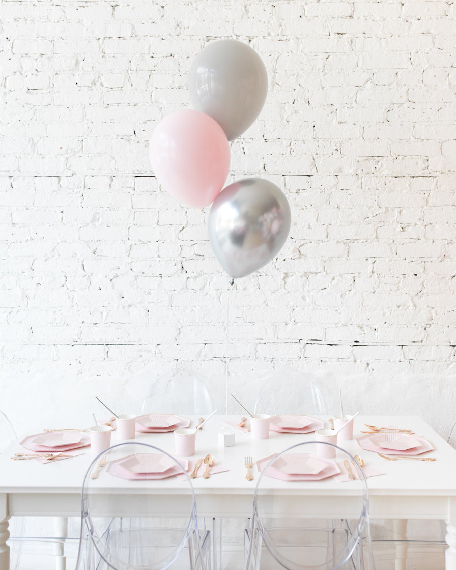Pink Chic - 11in Balloons Centerpiece - bouquet of 3