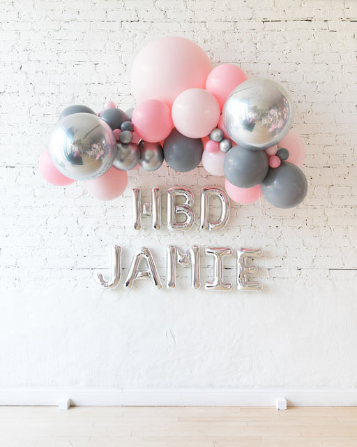 Pink Chic - Floating Balloon Arch & Foil Letters Set