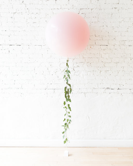 Pink Chic - Giant Balloon with Greenery Tassel