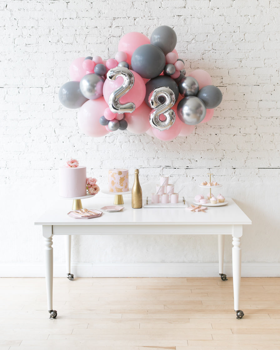 Pink Chic - Number Backdrop Balloon Garland Install Piece - 3ft