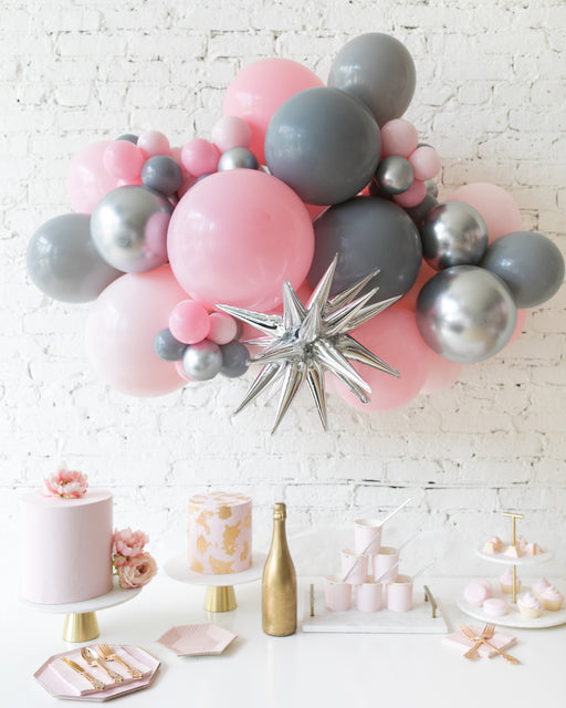 Pink Chic - Magic Star Backdrop Balloon Garland Install Piece - 3ft