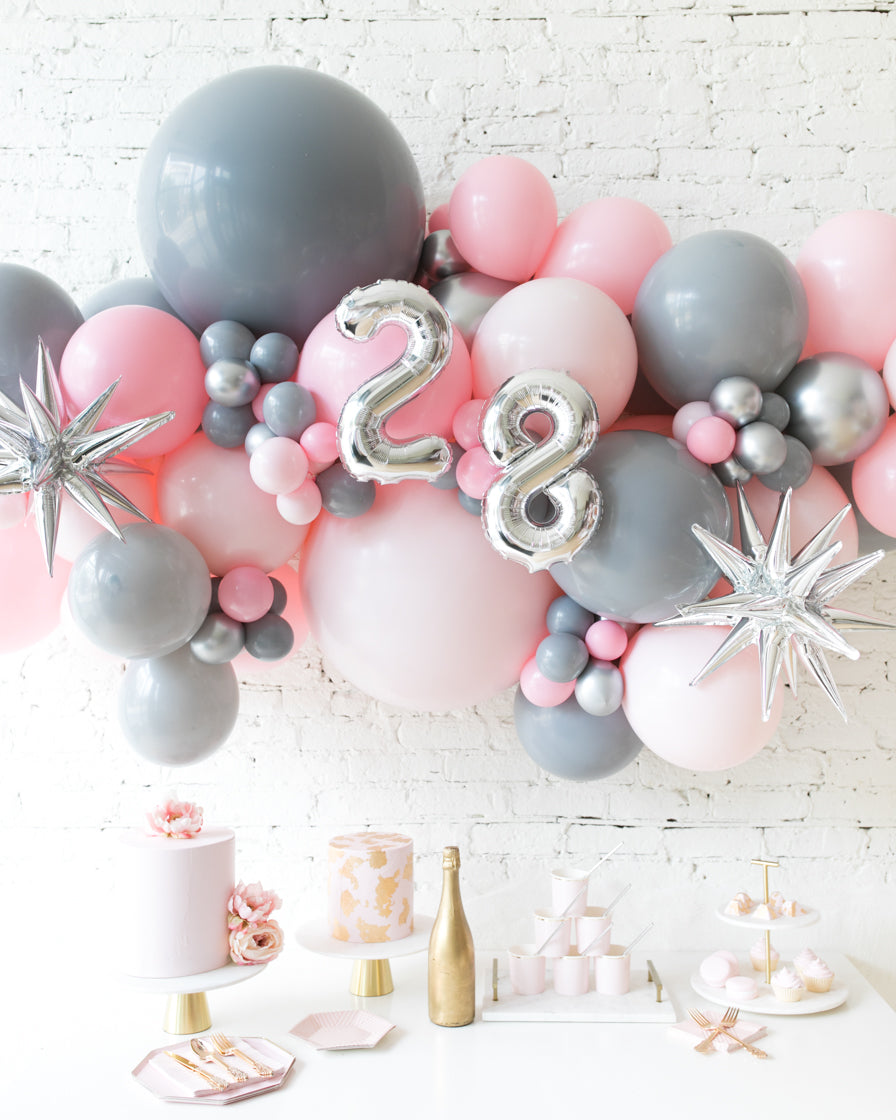 Pink Chic - Number Backdrop Balloon Garland Install Piece - 6ft