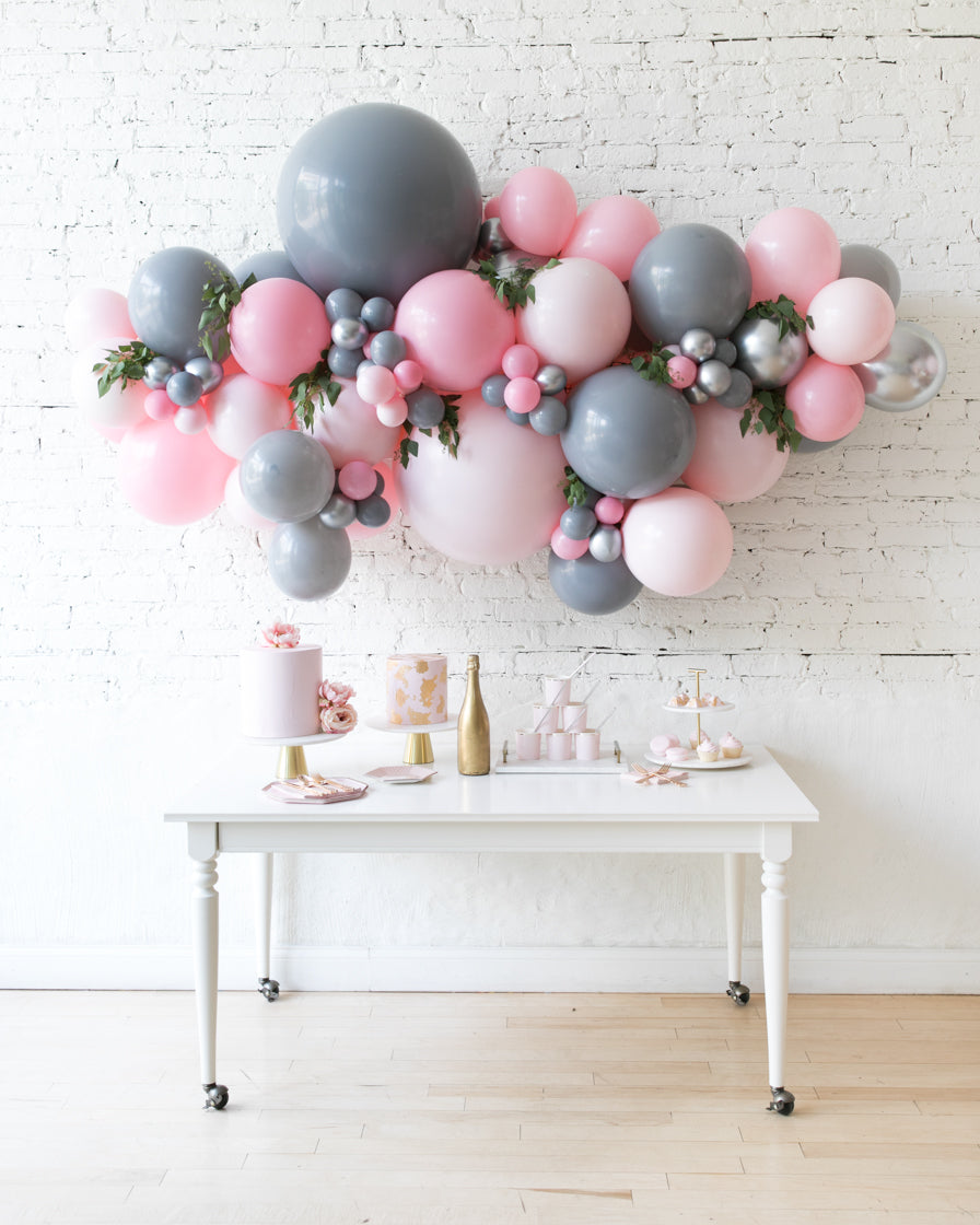 Pink Chic Backdrop Balloon Garland Install Piece With Greenery 6ft Paris312