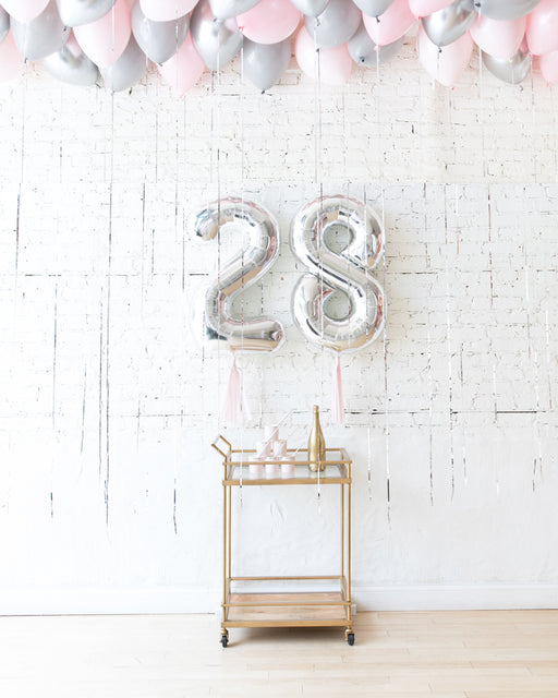 Pink Chic - Number Foils & Ceiling Balloons Set