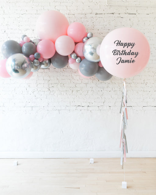 Pink Chic - Floating Balloon Arch & Personalized Giant Balloon Set