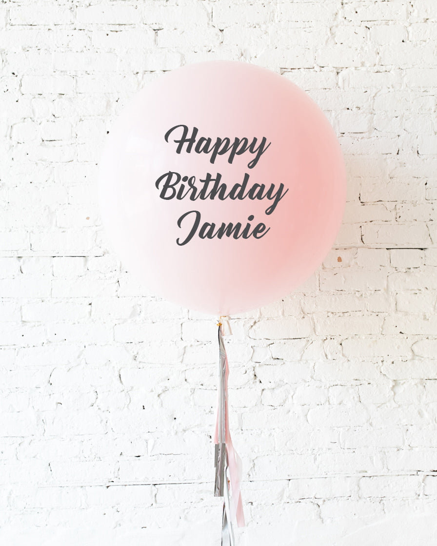 Pink Chic - Personalized Happy Birthday Balloon with Tassel