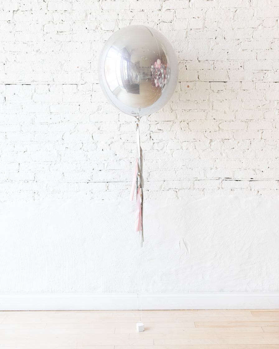Pink Chic - 21in Orb Foil Balloon and Half-Tassel