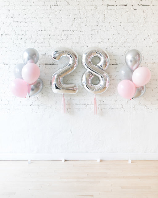 Pink Chic - Numbers & 11in Balloon Bouquets Set