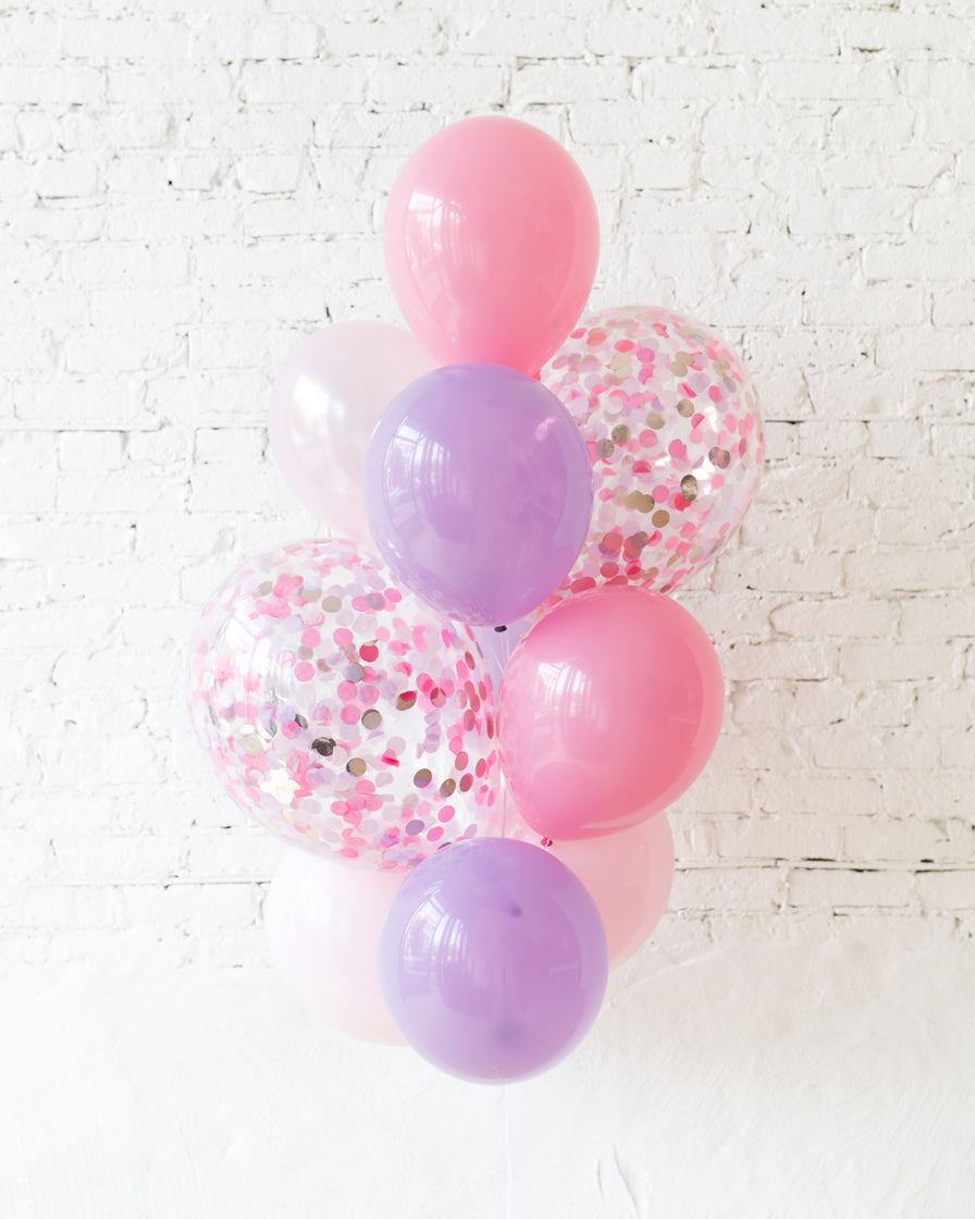 GIFT-Princess Theme Confetti and 11in Balloons - bouquet of 10