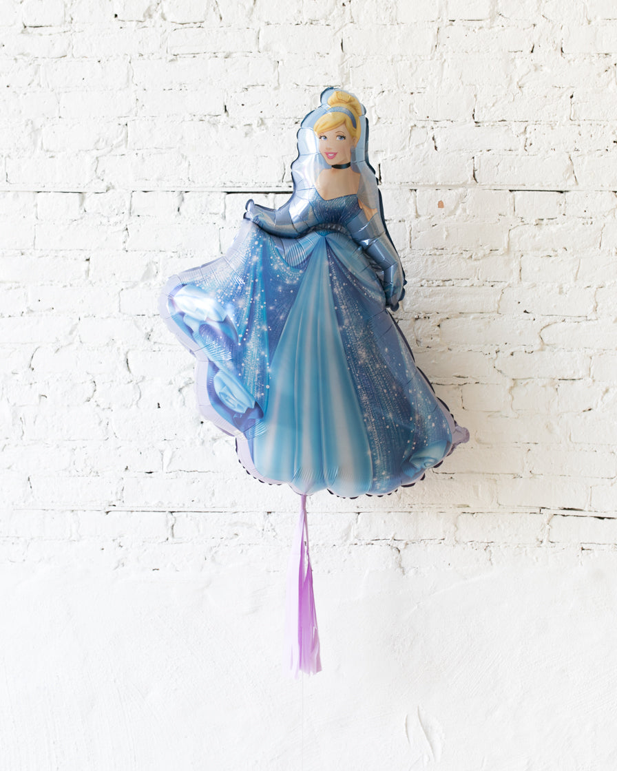 33in Cinderella Foil Balloon and Lavender Skirt