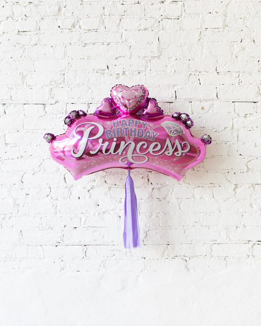 32in Princess Crown Foil Balloon and Lavender Skirt