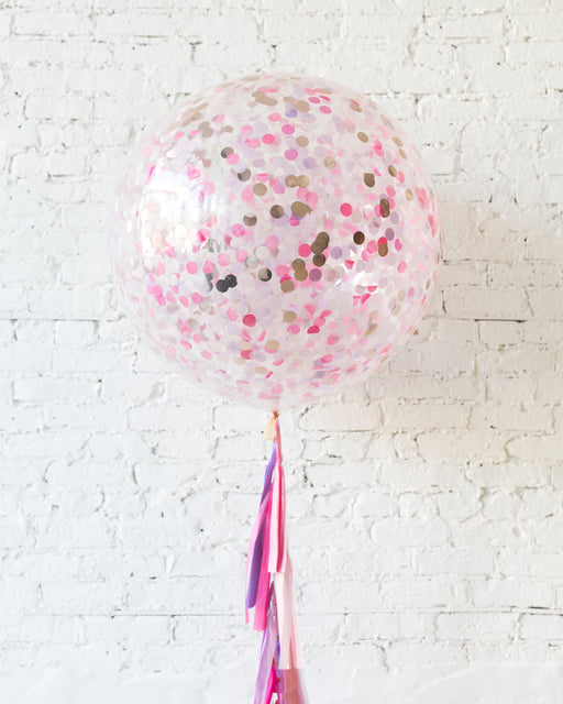 Princess Theme Confetti Giant Balloon and Tassel