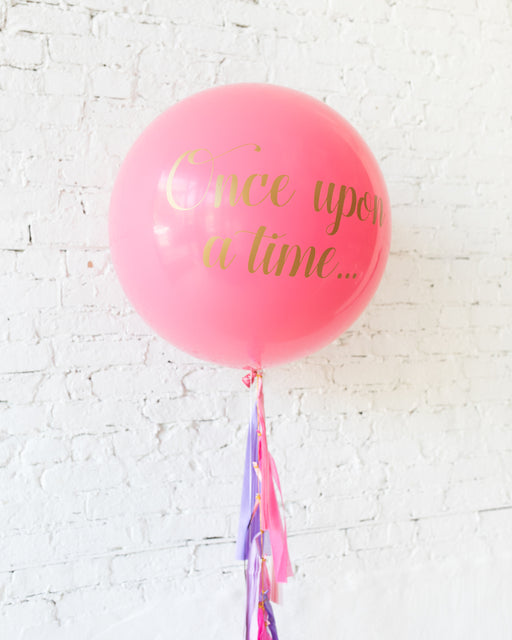 Princess Theme Specialty Giant Balloon and Tassel