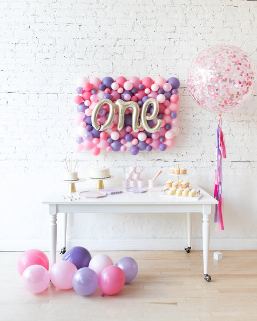 Princess Theme One Script Balloon Board & Confetti Giant Set