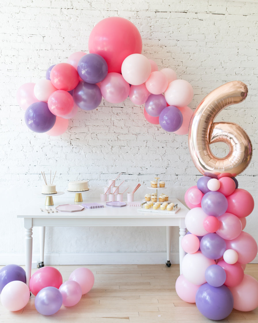 Princess Theme Floating Arch & Number Column Set