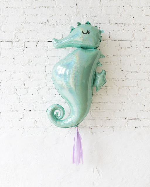 38in Seahorse Foil Balloon and lilac Skirt