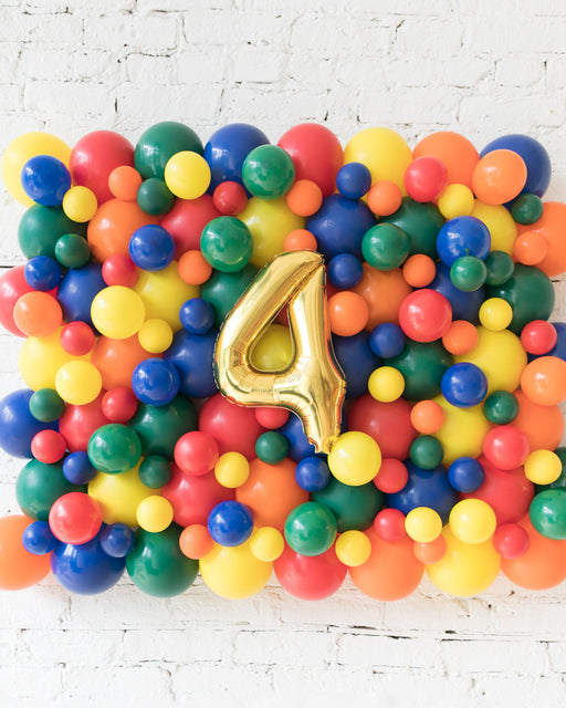 Sesame Street Theme - Customizable Number Balloon Backdrop Board - 30inx40in