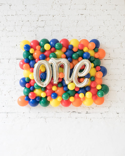 Sesame Street Theme - ONE Script Balloon Backdrop Board - 30inx40in