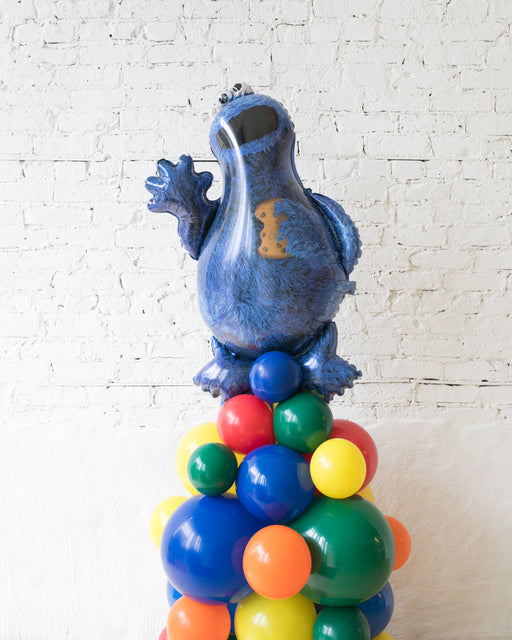 Sesame Street Theme - Cookie Monster Balloon Column - 4FT