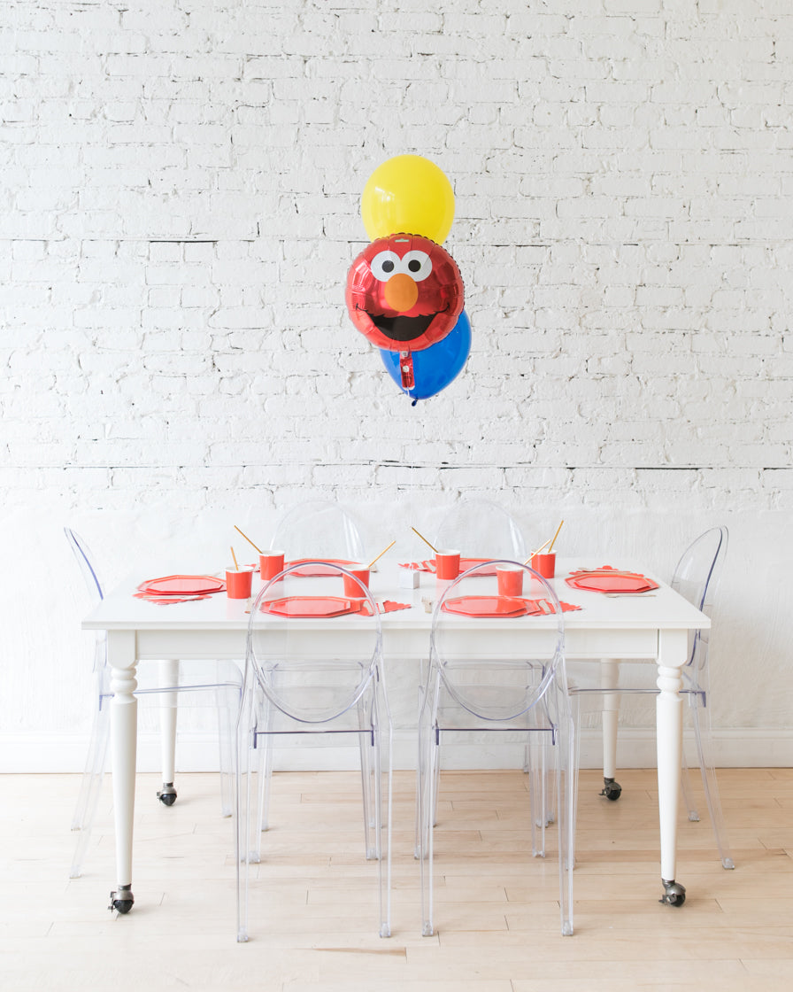 Sesame Street Theme - Elmo and 11in Balloons Centerpiece - bouquet of 3