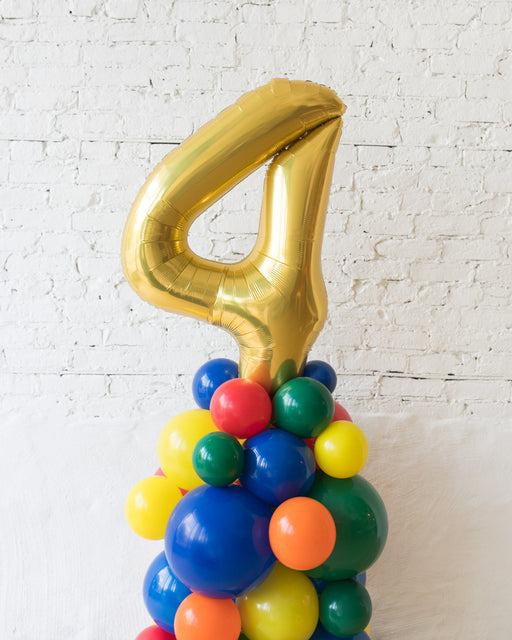 Sesame Street Theme - Customizable Number Balloon Column - 4FT