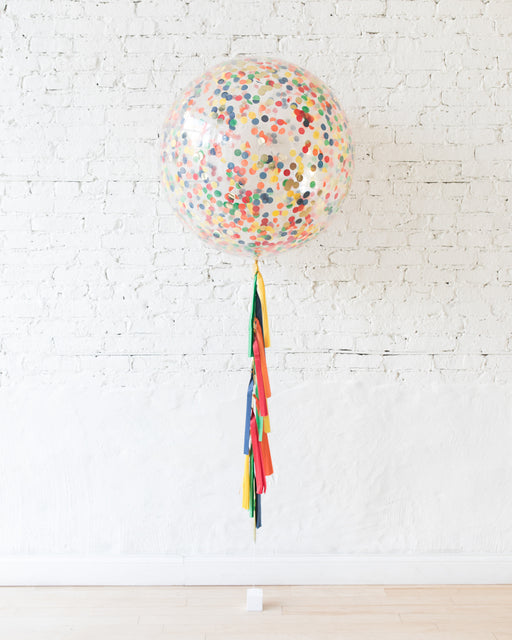 Sesame Street Theme - Confetti Giant Balloon with Tassel