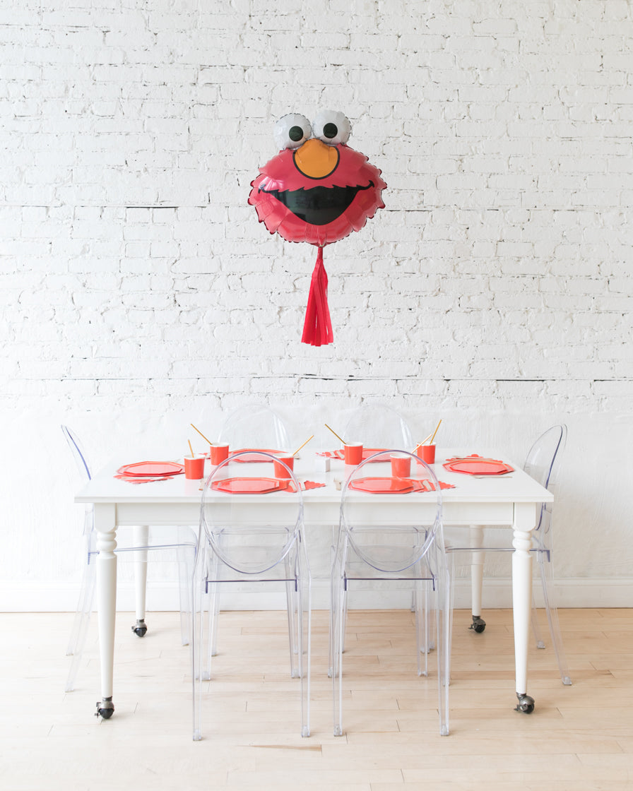 30in Elmo Foil Balloon with Red Skirt Centerpiece