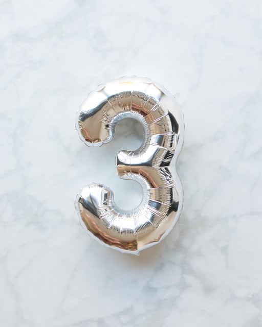 16in Silver Foil Number