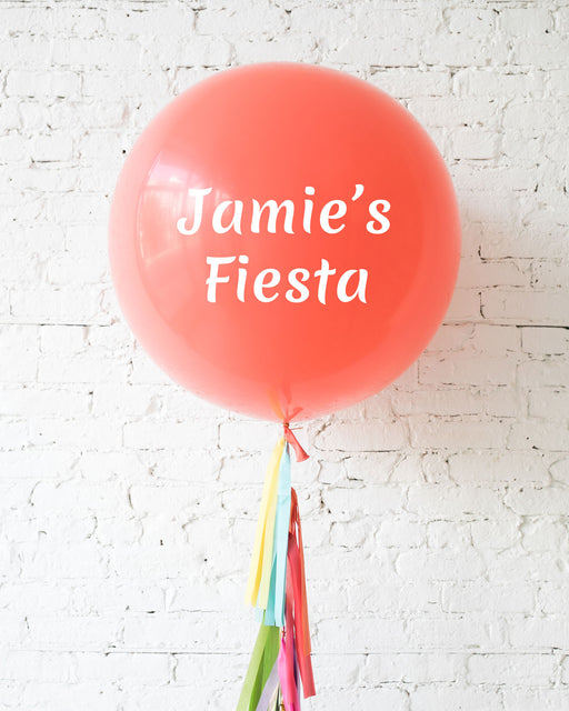 Personalized Fiesta Giant Balloon with Tassel