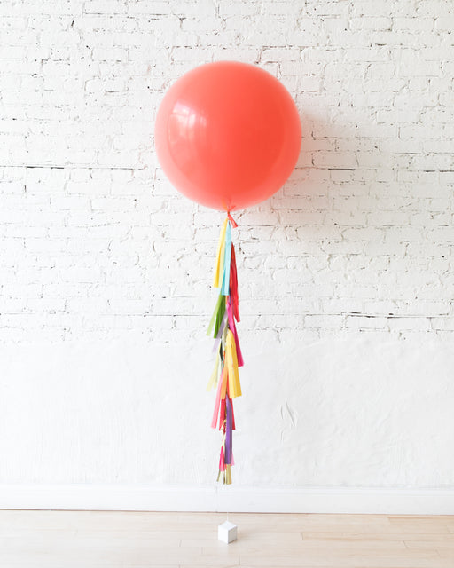 OUTDOOR-Coral Giant Balloon and Fiesta Mix Palette Tassel