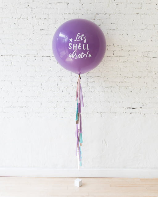 Mermaid Theme Specialty Giant Balloon and Tassel