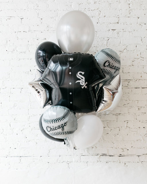 GIFT-White Sox Foil and 11in Balloons - Bouquet of 10
