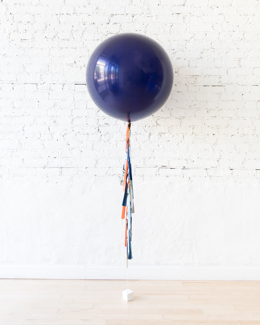 Navy Giant Balloon and Space Theme Tassel
