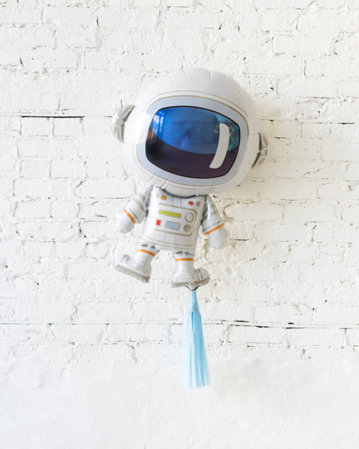 37in Astronaut Foil Balloon and French Blue Skirt