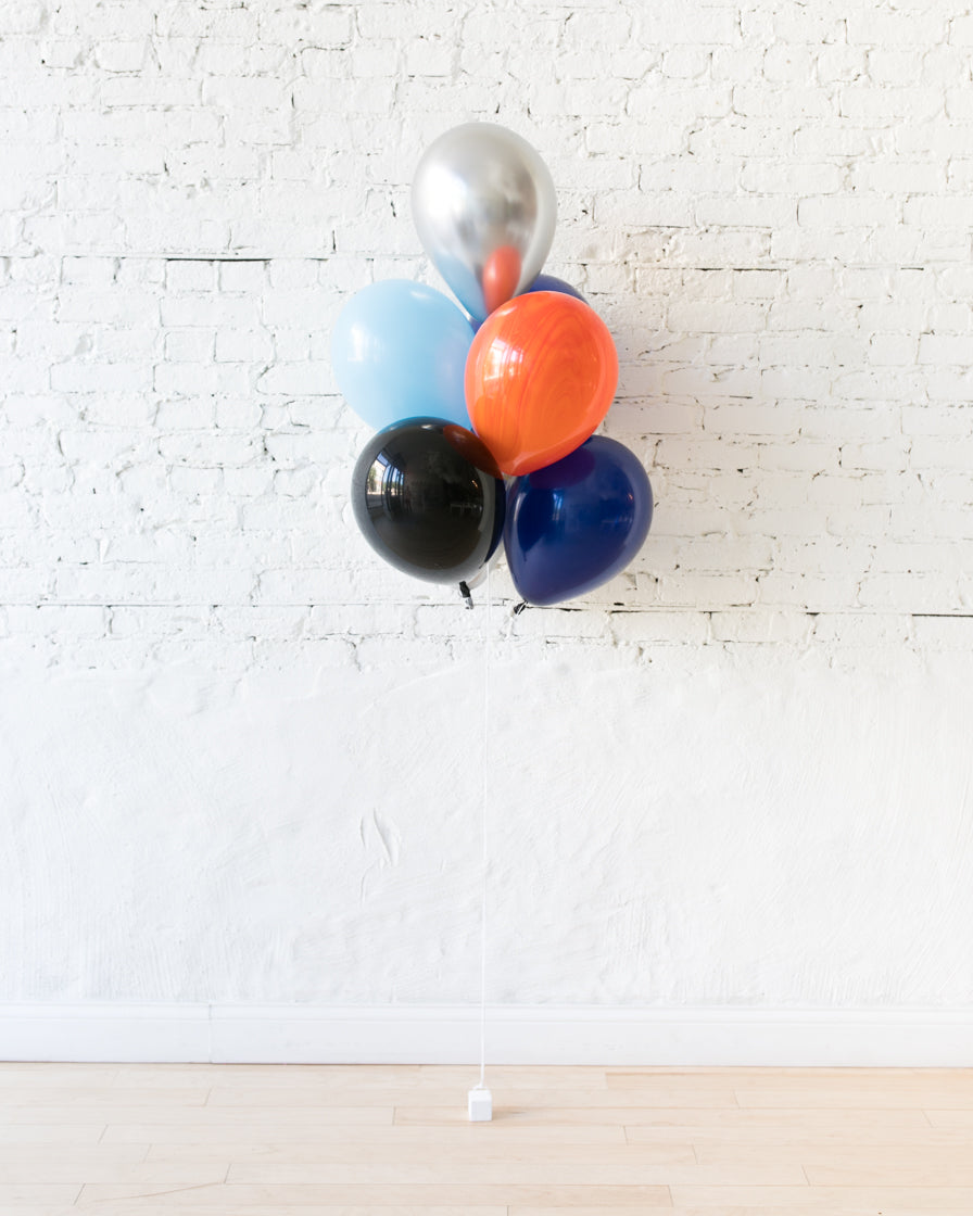Space Theme 11in Balloons - bouquet of 7