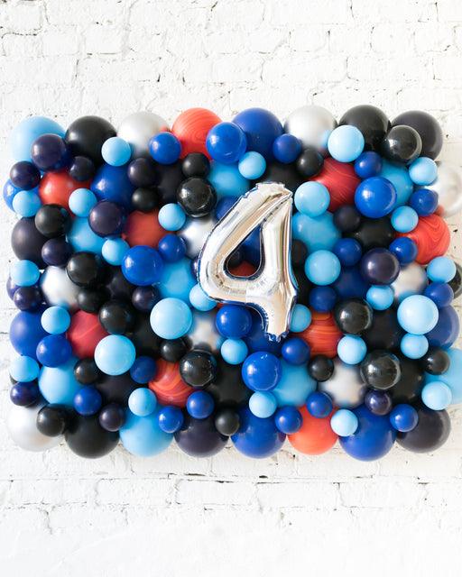 Customized Space Theme Number Balloon Backdrop Board - small