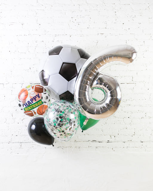 GIFT-Soccer Theme Number Birthday Bouquet