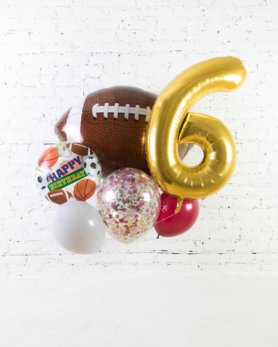GIFT-Football Theme Number Birthday Bouquet