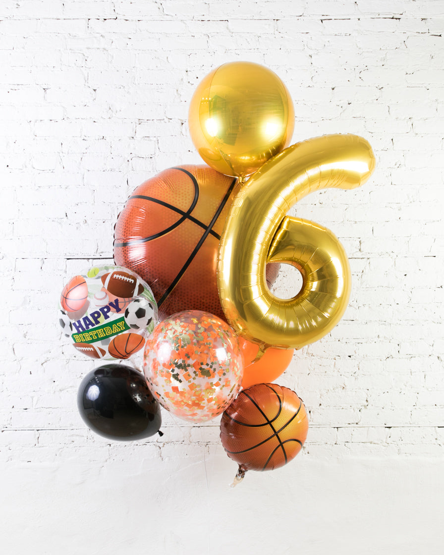GIFT-Basketball Theme Number Birthday Bouquet