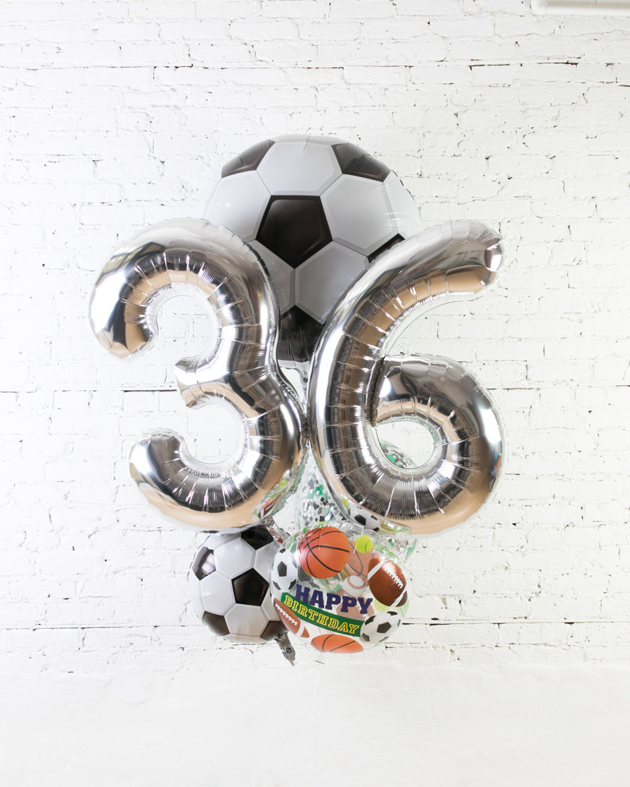 GIFT-Soccer Theme Double Digit Birthday Bouquet