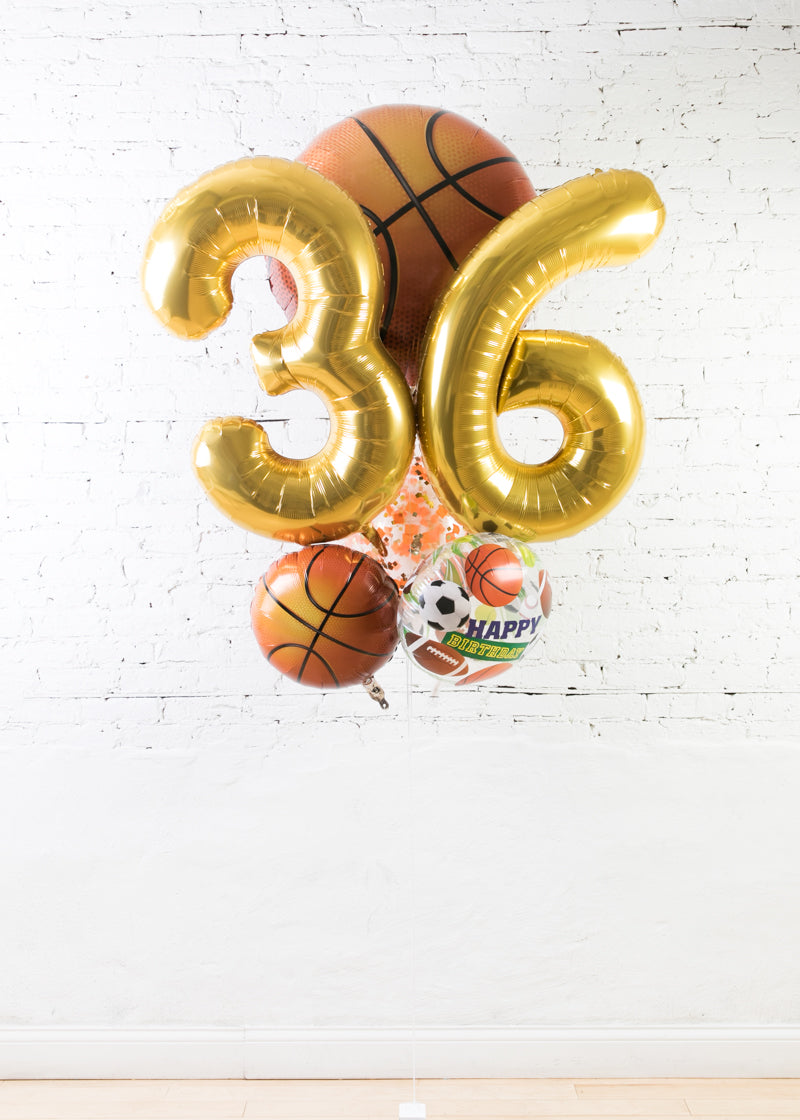 GIFT-Basketball Theme Double Digit Birthday Bouquet