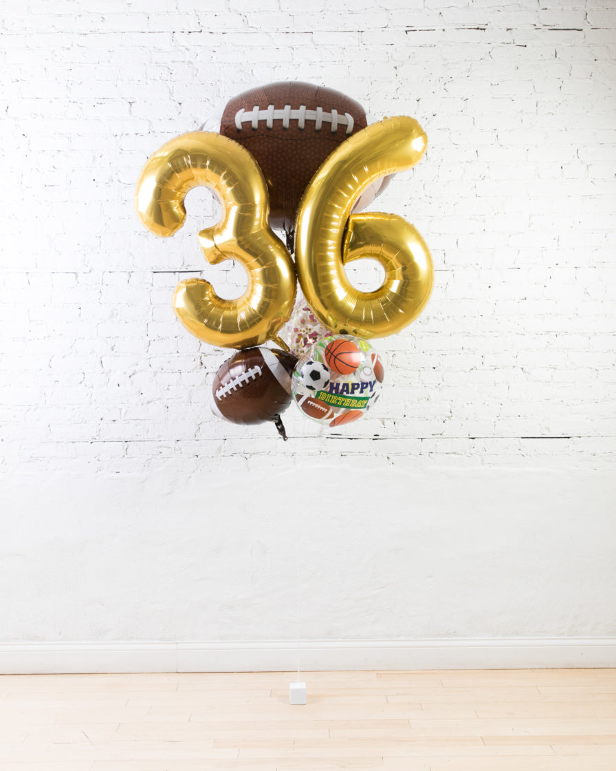 GIFT-Football Theme Double Digit Birthday Bouquet