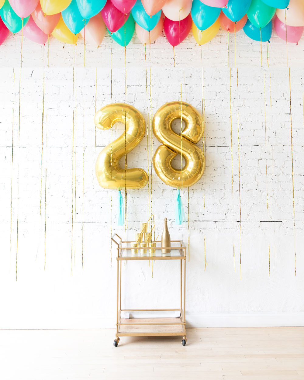 Tropical Time - Number Foils & Ceiling Balloons Set